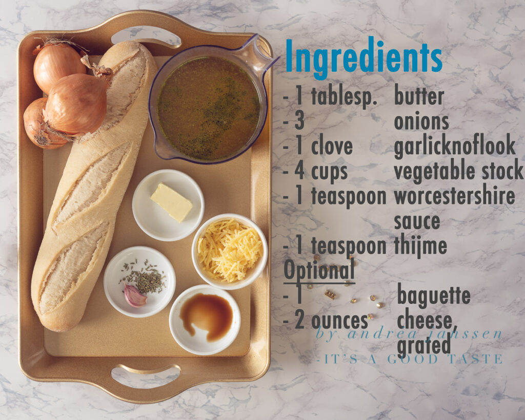 Ingredients Easy onion soup with only 6 ingredients