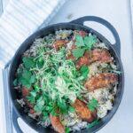 eenpansgerecht rijst met kip