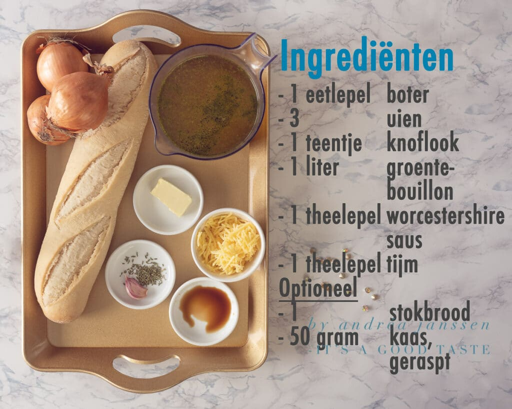 ingrediënten Makkelijke uiensoep met slechts 6 ingrediënten