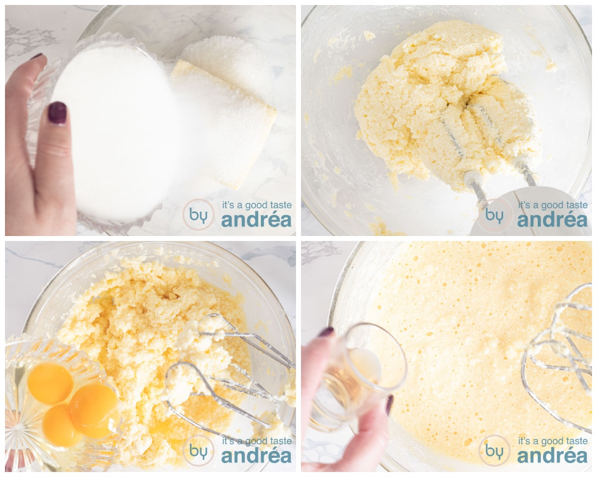 Mix all the wet ingredients for the batter in four steps
