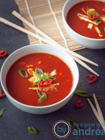 Chinese tomatensoep als bij de Chinees