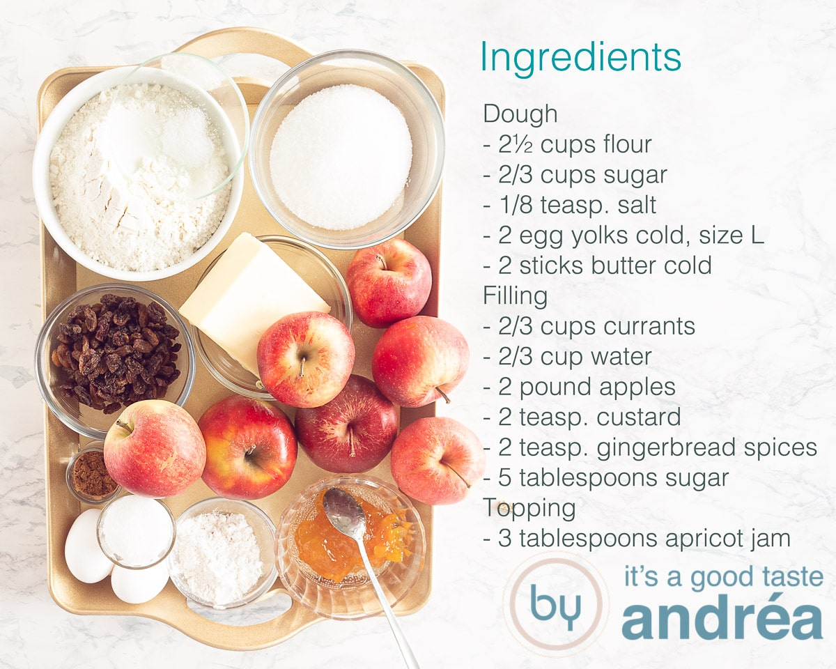 Ingredients Grandma's Dutch apple pie