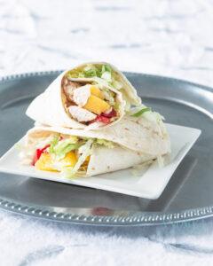 Wrap met mango en kip
