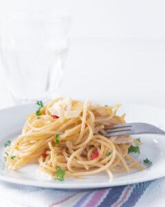 spaghetti con olio e aglio