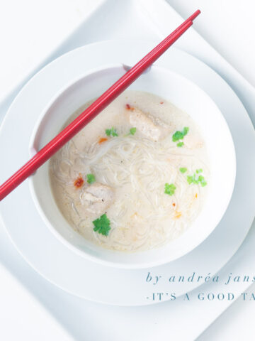 highlight Easy Asian chicken noodle soup
