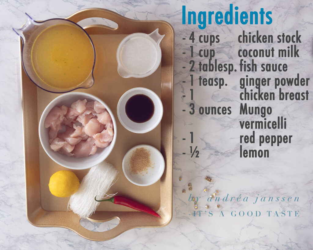 Ingredients Easy Asian chicken noodle soup