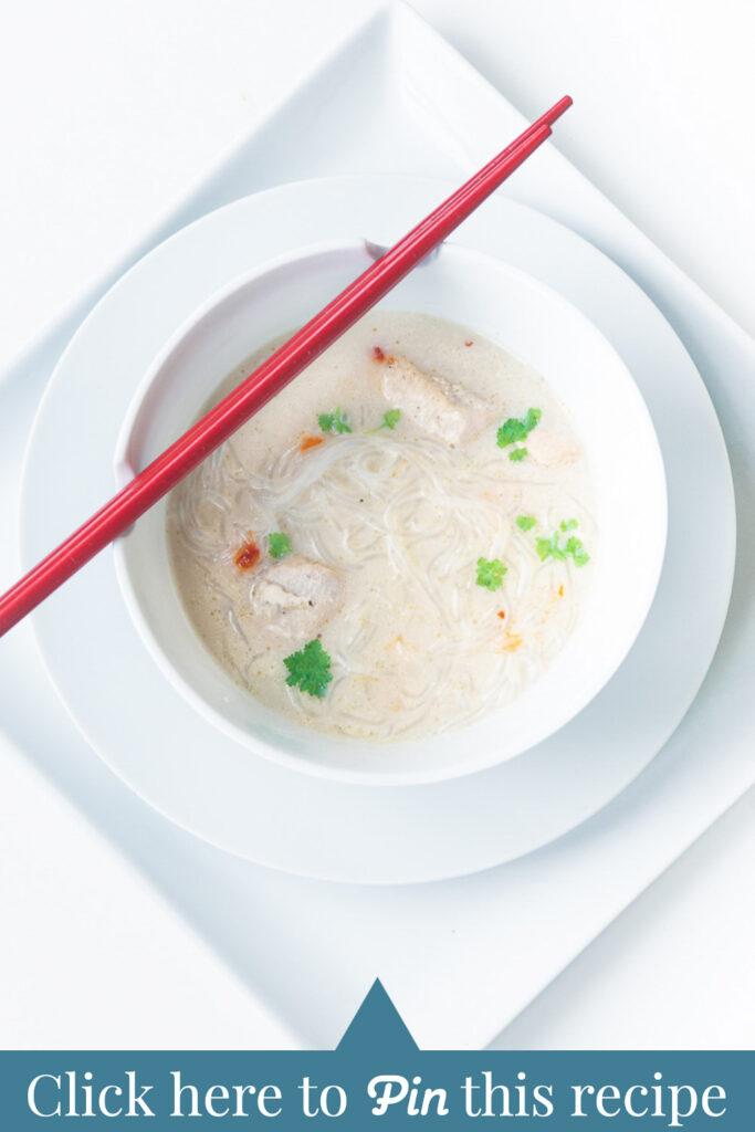 c t a Easy Asian chicken noodle soup