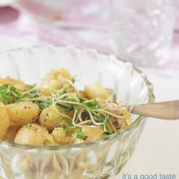 Aardappelsalade met krieltjes