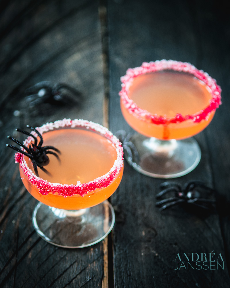Halloween cosmopolitan cocktail
