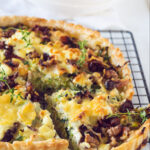pin Leek quiche with goat cheese and walnuts