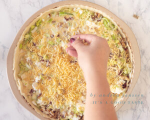 Sprinkle with grated cheese