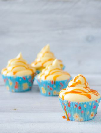 Cupcakes met zoute karamel