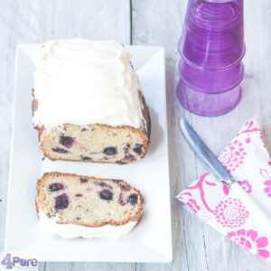 Blauwe bessen cake met frosting - blueberry cake with frosting