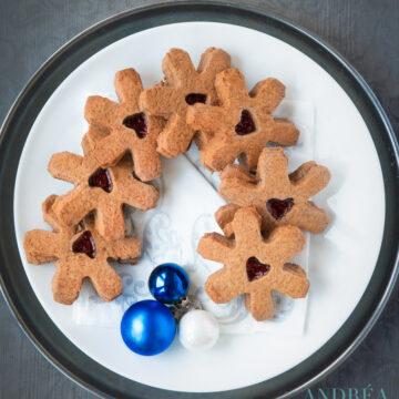 Kerst koekjes met jam