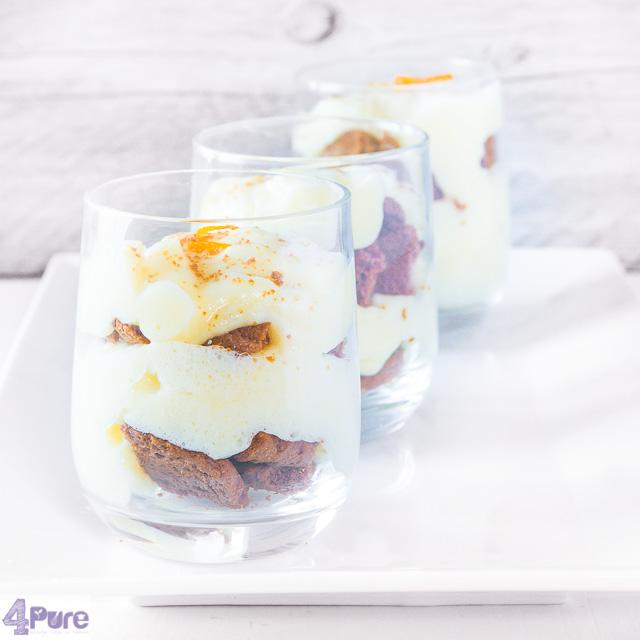 Sinaasappelvla met bastogne koek - orange pudding with coffee cookies