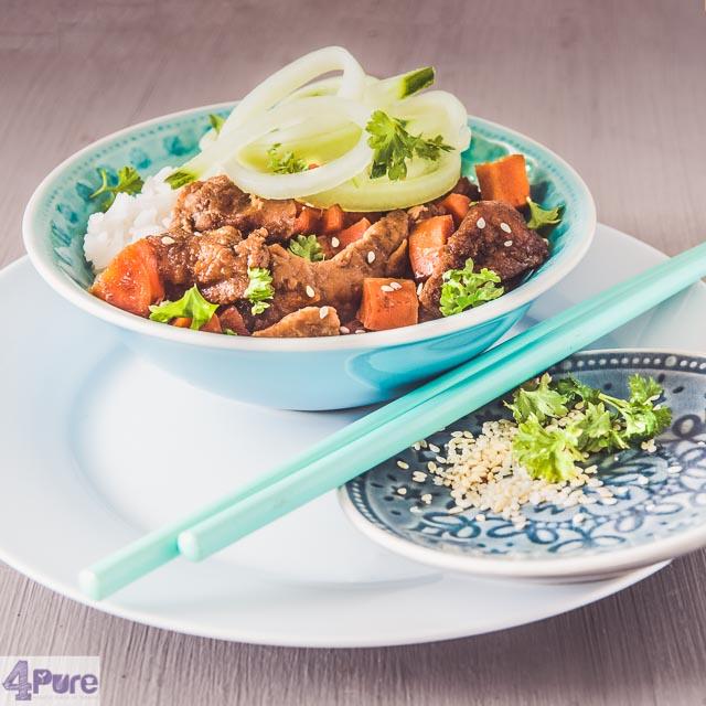 Slow cooker Mongools rundvlees - Slow cooker Mongolian beef-bewerkt