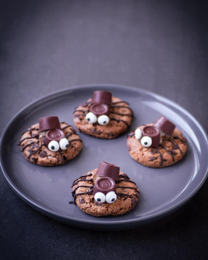 Spider cookies for Halloween