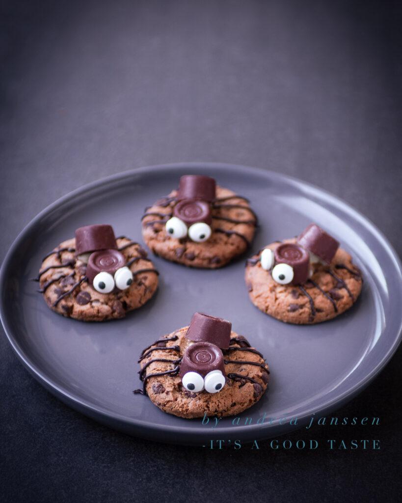 Halloween spinnen koekjes