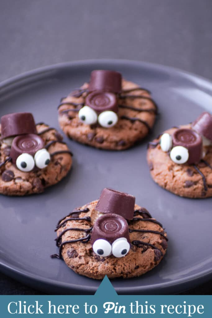 c t a spider cookies for Halloween