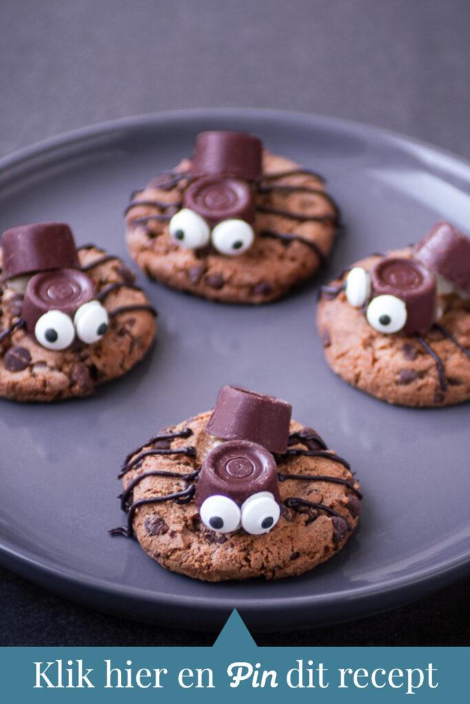 c t a Spinnen koekjes voor Halloween