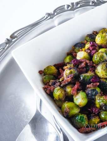 Maple syrup and mustard brussels sprouts