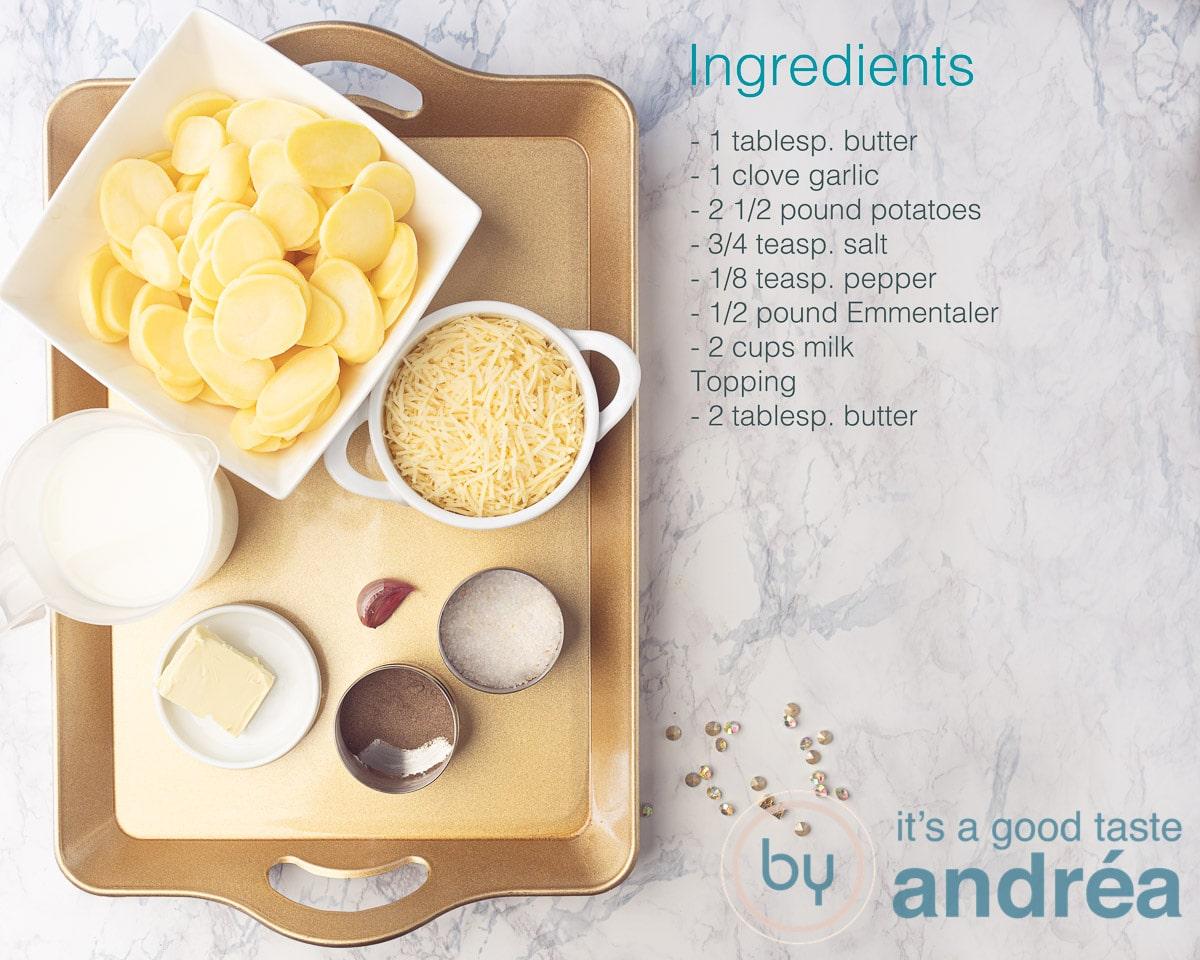 Ingredients Potato gratin with Emmentaler