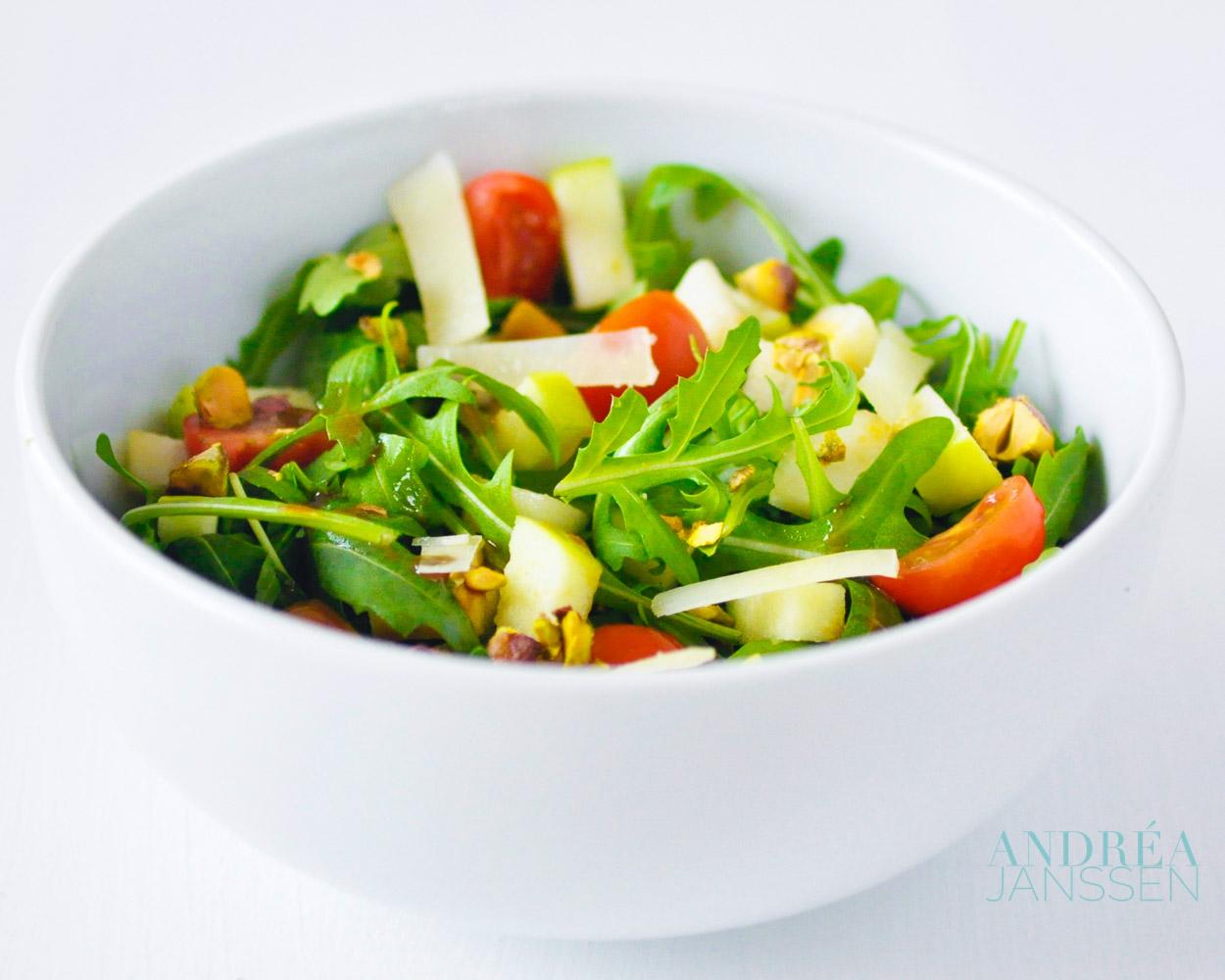 Rucola salade met pistachenoten