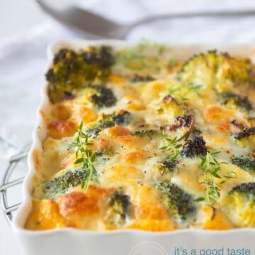 Broccoli frittata with Mozzarella