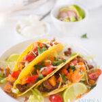 vegetarische taco met zoete aardappel en bonen