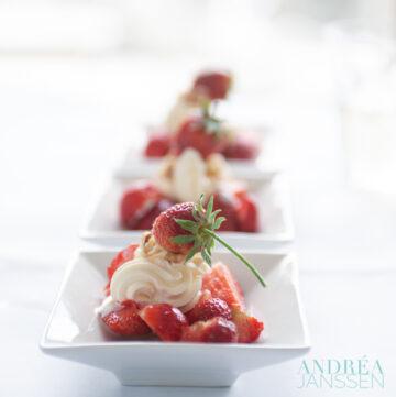 Aardbeien room - strawberry cream