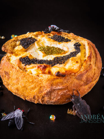 Halloween kaas brood