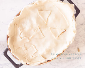 Decorate Guinness and steak pie