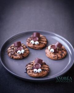 Spinnen koekjes voor Halloween