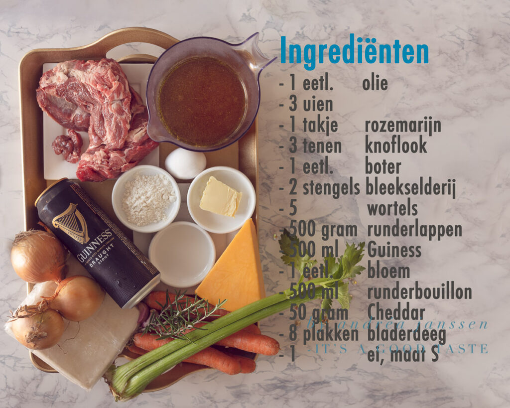 Ingrediënten Halloween recept: Guinness en steak pie
