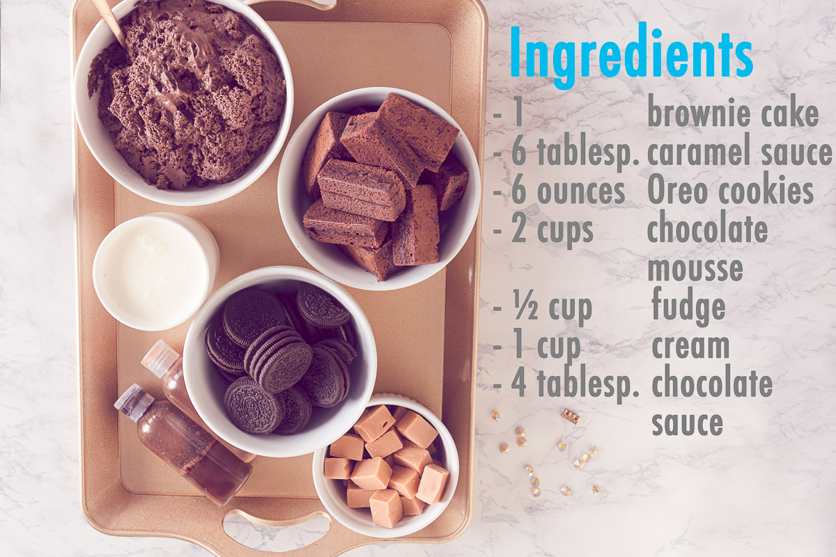 Ingredients Easy Halloween trifle with Oreo recipe