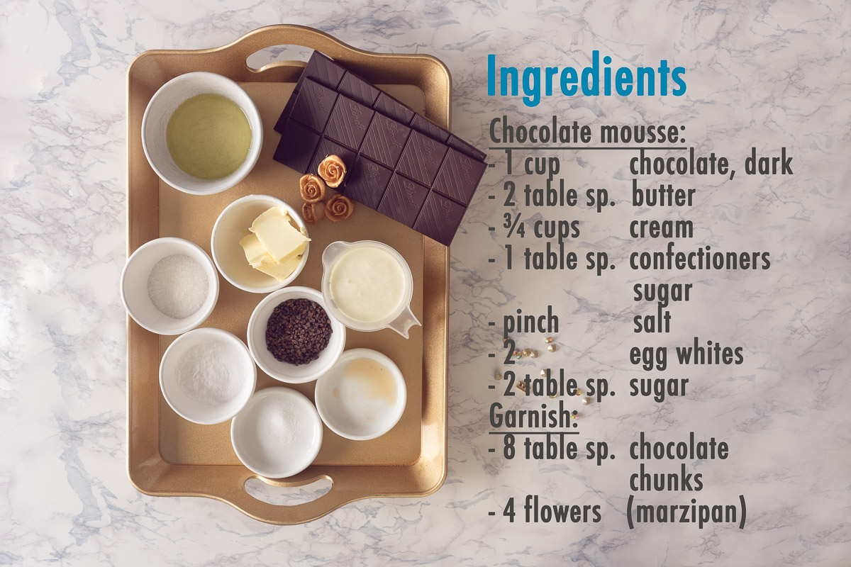 Ingredients Fluffy chocolate mousse Halloween style