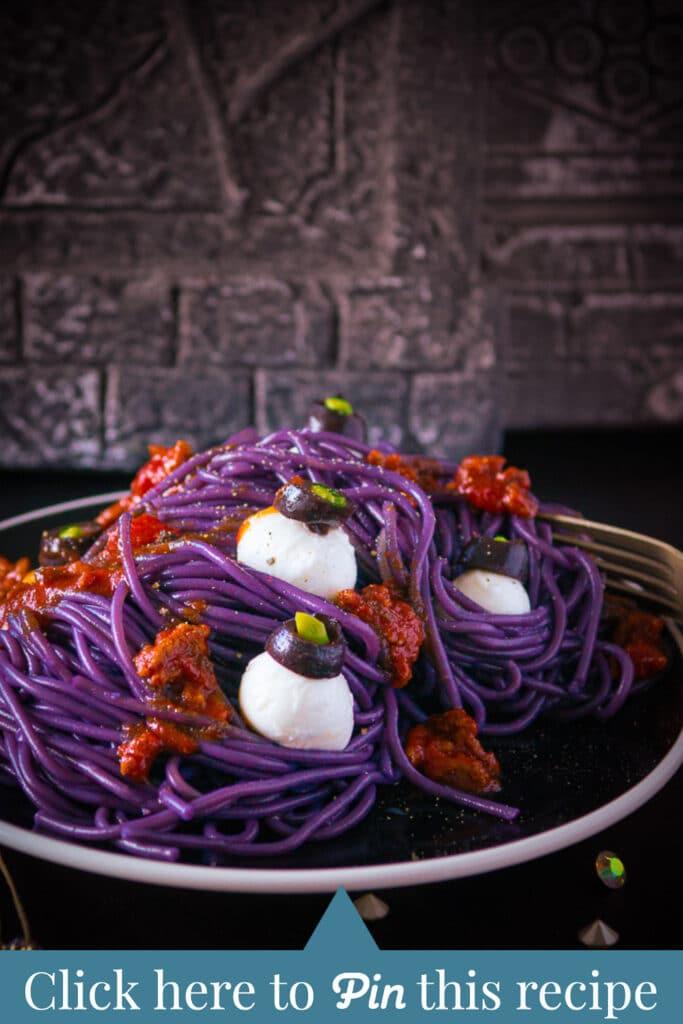 Shout out scary purple spaghetti