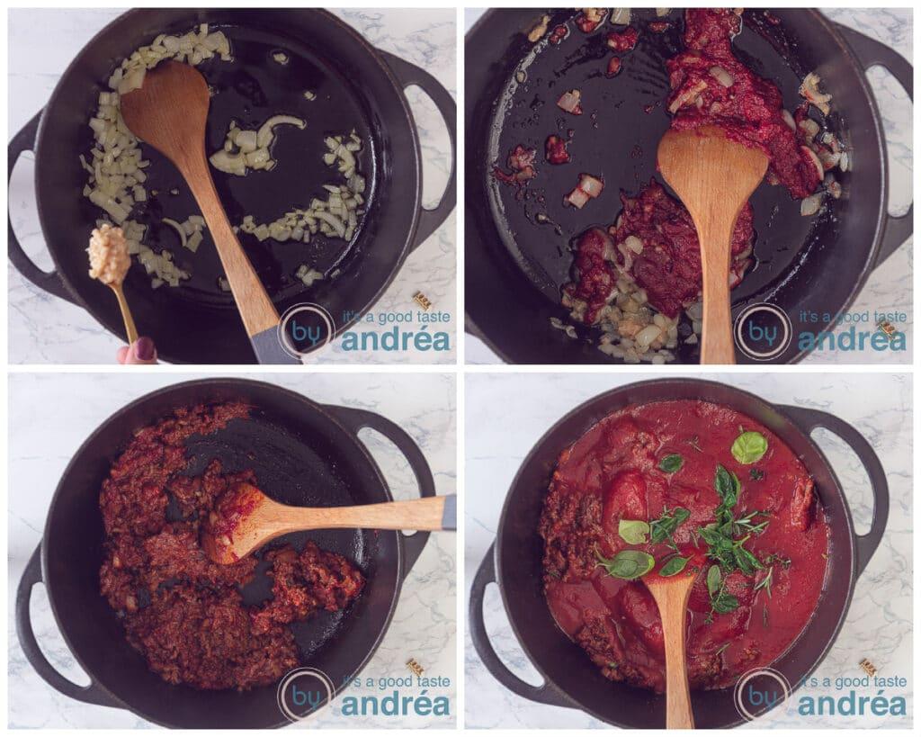 Prepare the bolognese sauce