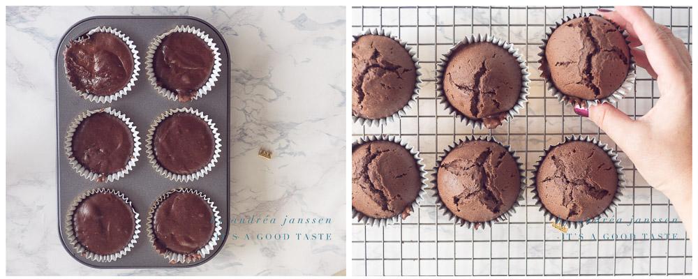 Vul de cupcakes vormpjes en bak in de oven