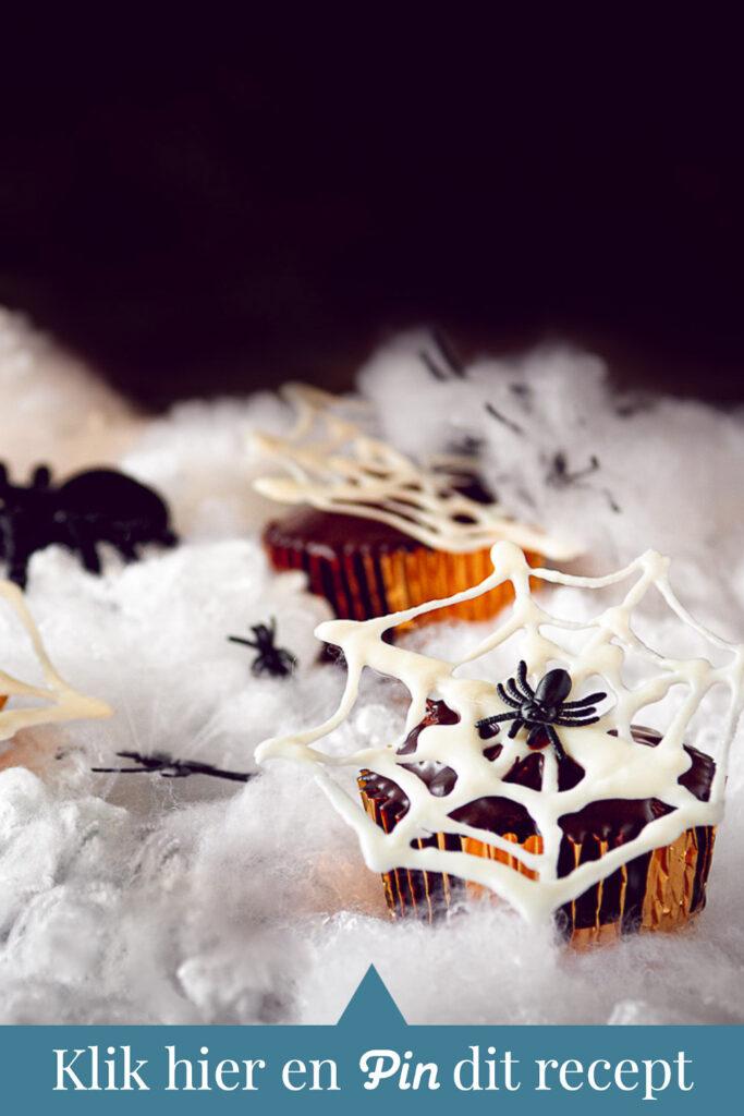 c t a Halloween recept Nutella cupcakes met chocolade