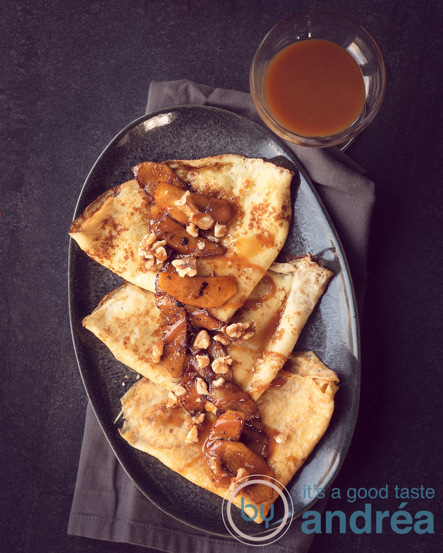 Gourmet dessert recept Crêpes met gebakken appeltjes
