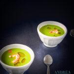 Licht soepje van doperwtjes en rivierkreeftjes - pea soup with cray fish-bewerkt