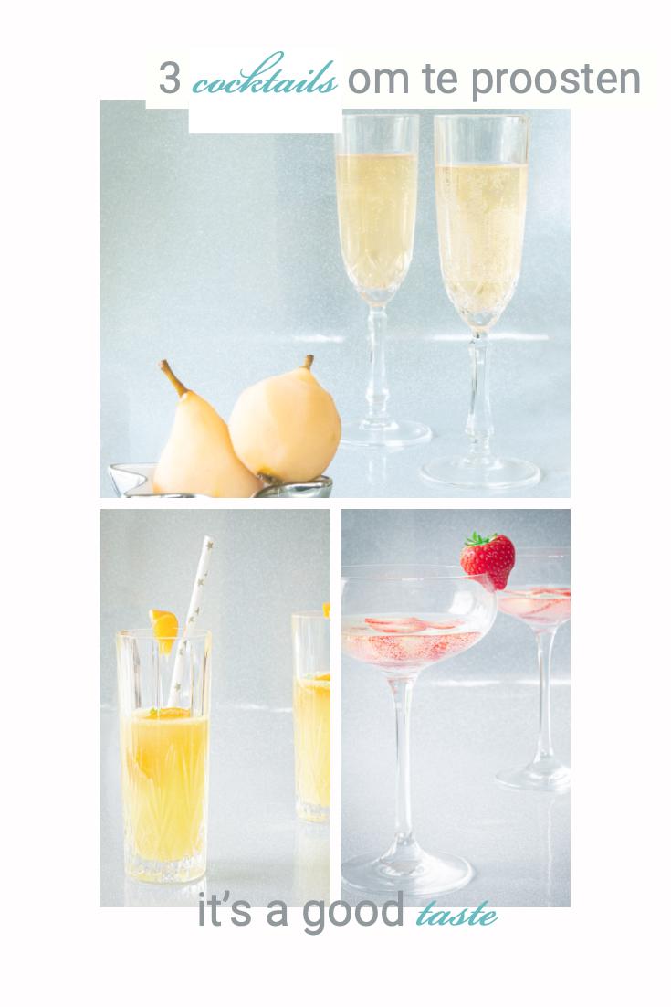 3 heerlijke cocktails om te proosten