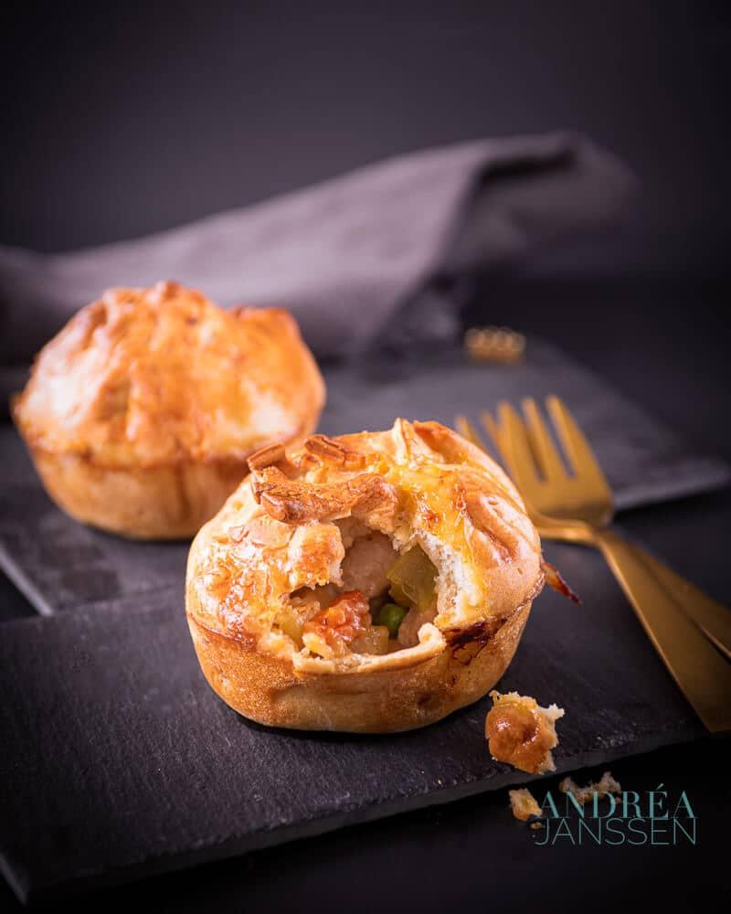 Kip pastei muffin