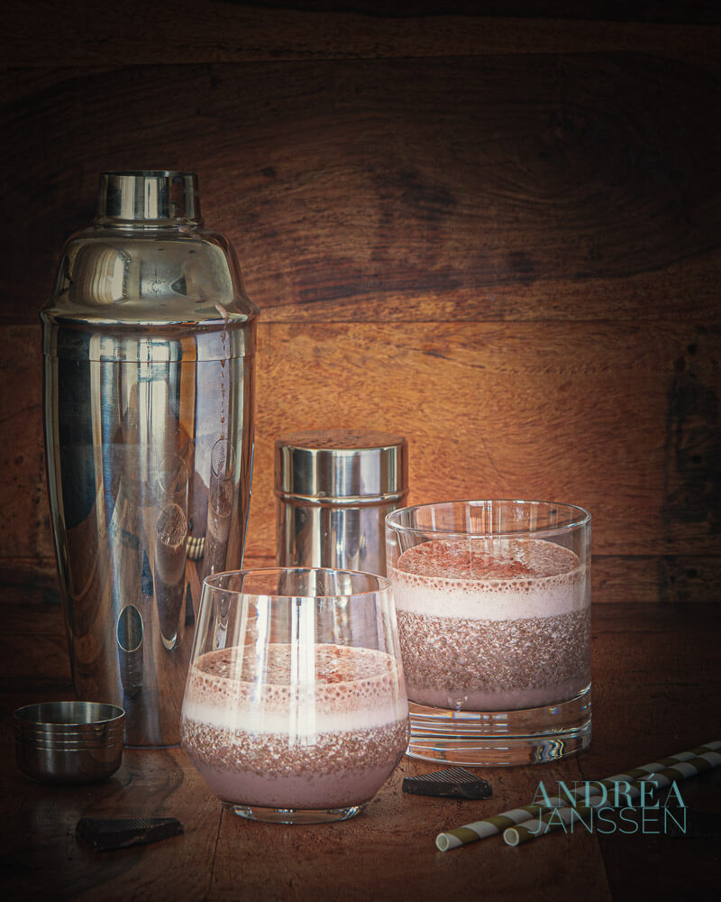 Kokoswater smoothie met chocola - coconut water smoothie with chocolate
