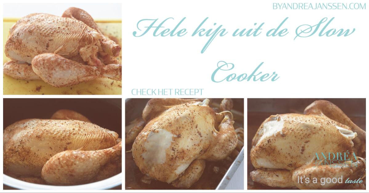 Hele kip uit de slow cooker