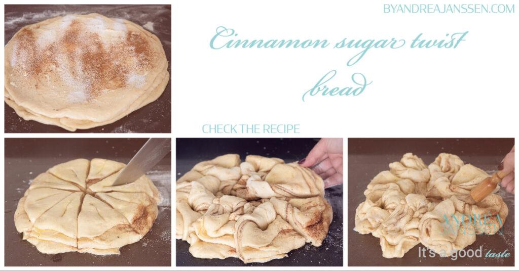 How to prepare cinnamon sugar twist bread in photos