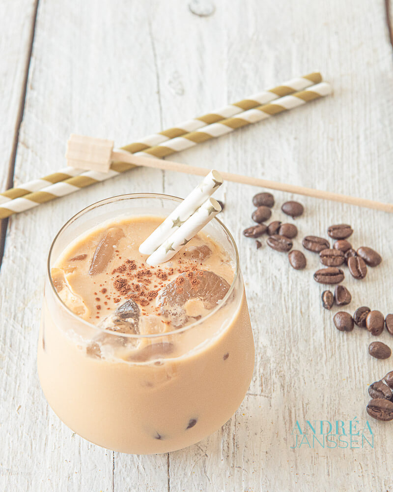 Ice coffee, refreshing, delicious and creamy