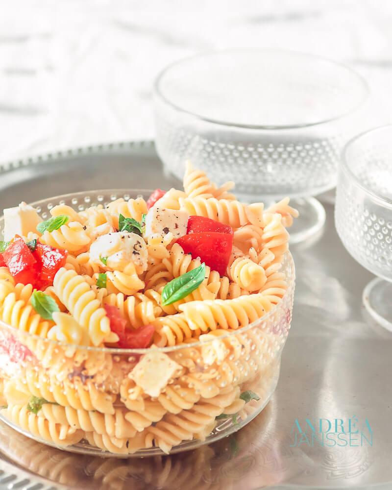 Pastasalade met Mozzarella
