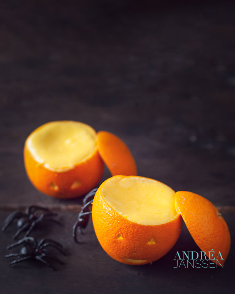 Halloween orange bavarois